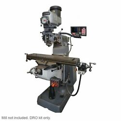 Newall 3 Axis Dro Kit For Bridgeport Mill 42 Btc Knee Ip67 Mill Not Included