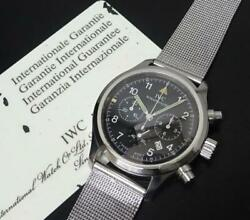 Freeger Chronograph Iw374101 Black Dial Warranty Cards Booklets Tags