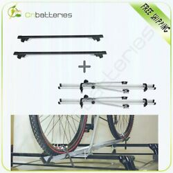 For Silver 50 Universal Aluminum Cargo Roof Rack Crossbar Rack Mounted Bicycle