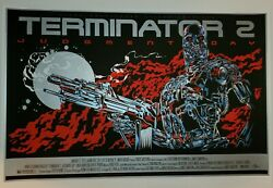 Terminator 2 Ken Taylor Screen Print W/metallic Ink Only 120 Made Rare Sold Out
