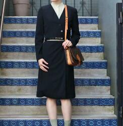 Coco Mark Button Wool Setup With Belt Free Shipping No.4327