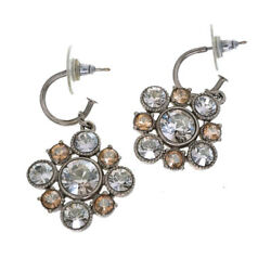 Stone Earrings Silver System Plating Women 's Accessory Costume No.4149