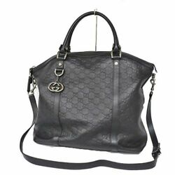 339551 Simple Shoulder Bag Razor Womenand039s Black Used Previously No.6492