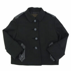 Louis Vuitton Wool Jacket Coat Women And039s Black Size38 Y00654 Previously No.6777