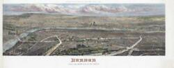 1861 - A Huge Very Rare Panoramic View London From The South Side Thames