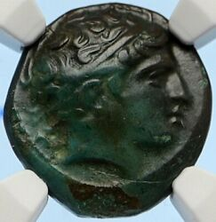 Macedonia Of Philip Ii Ancient Old Greek Coin Apollo Olympic Horse Ngc I95634
