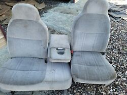 1998 Ford F150 Pick Up Truck 60 / 40 Split Bench Seat Gray Driver Power