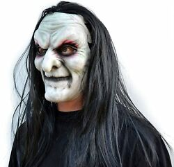 Halloween Witch Mask Scary Comic-con Cosplay Latex Old Costume Mask With Hair