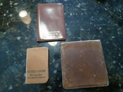 3 Vtg Peters Weatherbird Shoes Calendar Note Book Address Keeper Faux Leather