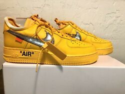 Nike Air Force 1 Low X Off-white University Gold Size 8 Dd1876-700 Deadstock