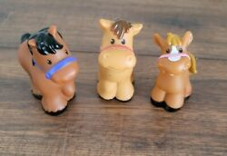 Lot of 3 Fisher Price Little People Horses 2016