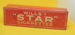 Antique Tin Domino Set Wills Star Cigarettes Tin Will's Star Dominoes And Tin. Uk