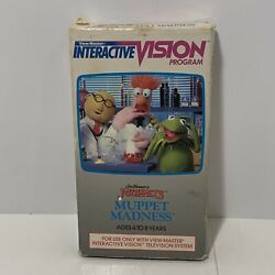 View-master Interactive Vision Muppet Madness Vhs Game Rare