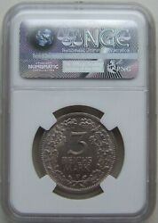 3 Reichsmark 1932 F In Extremely Fine / Brillant Uncirculated Ngc Ms 62 Rare