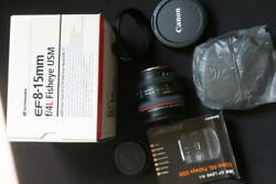 Includes Shipping Longing Lens Canon Interchangeable Lenses Ef-8-15mm F4l