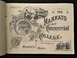 1904 Antique Mankato Commercial College Book Mn Tuition Rates Photos Students+