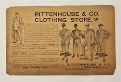 1905 Antique Rittenhouse Andco Clothing Store Frenchtown Nj Ad Lrg Pc Mens Fashion