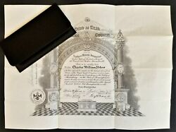 Lot 1952 Vintage Wallet And Masonic Freemasonry Certificate Chas Peters