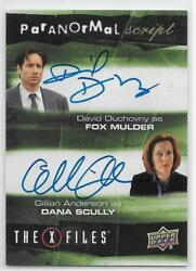 2019 Ud X-files Ufos And Aliens Dual Autograph David Duchovny/gillian Anderson Ssp