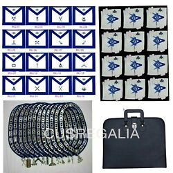 Masonic Blue Lodge Officer Chain Collar Jewels Apron Gloves,soft Case