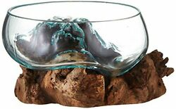 Cohasset Gifts Cohasset Wide Mouth Molten Approximately 8 Natural Wood And R...