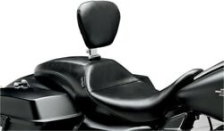 Le Pera Smooth Outcast Seat With Backrest For 2008-2016 Harley Touring Lk-987br