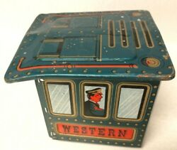 Vintage Western Tin Metal 12 Toy Train Battery Operated Part Only Cabin