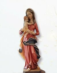 Madonna With Child Statue Wood Fine Cm 80 - 315 Inches
