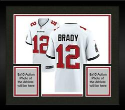 Frmd Tom Brady Buccaneers Super Bowl Lv Champs Signed White Game Jersey And Insc