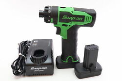 Snap-on Tools Cts825g 14.4 V 1/4 Hex Microlithium Cordless Screwdriver Kit