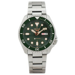 Seiko Sports Menand039s Watches Selfwinding Stainless Steel Green Dial No.5168