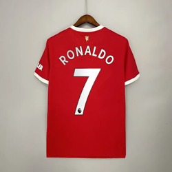 Cristiano Ronaldo 7 Jersey Manchester United 21/22 Home Away Soccer Menand039s Shirt