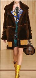 Coach Runway Andlsquoinside Outandrsquo Shearling Coat Sold Out Oversized Smallbnwt 2500