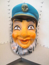 Halloween Mask 1970s Old Sailor Sailing Boat Sea Captain Navy Anchor Hat Pirate