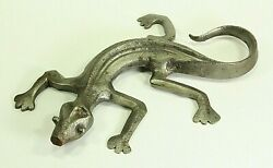 =antique 18th C. Cast And Wrought Iron Figurine Of A Lizard Gecko Or Salamander