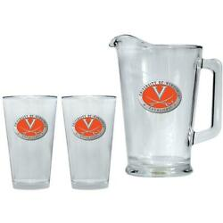 University Of Virginia Cavaliers Pitcher And 2 Pint Glass Set Beer Set