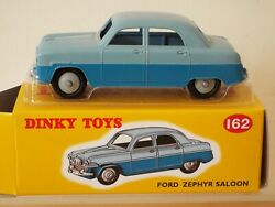 162 Dinky By Atlas Norev 4 659 109 Ford Zephyr Saloon 2-tone, Mint Model And Box