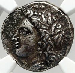 Metapontion Lucania Genuine Ancient 330bc Silver Greek Coin Demeter Ngc I83546