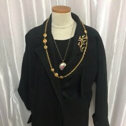 Gold Necklace Belt Vintage Accessories Goods From Japanese K11230