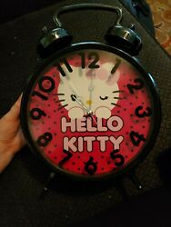 12quot; Traditional black amp; Pink HELLO KITTY Wall Clock SANRIO CO. 2011