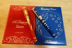 S.t. Dupont Fountain Pen Rendezvous Collection Moon / Sun Limited Edition New