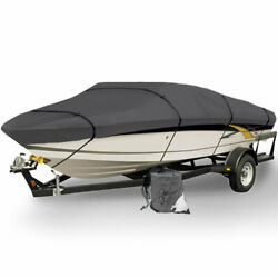 Boat Storage Cover 16-18.5ft Tie Down Straps Weatherproof Includes Support Pole