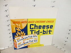 Nabisco 1940s Grocery Store Display Shelf Sign Cheese Tid-bit Snack Crackers