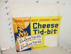 Nabisco 1940s Grocery Store Display Shelf Sign Cheese Tid-bit Snack Crackers X