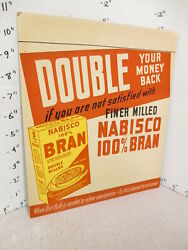 Nabisco 1940s Grocery Store Display Sign 100 Bran Cereal Box Constipation Cure