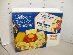 Nabisco 1940s Grocery Store Display Sign Cheese Snack Tray Premium Crackers