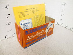 Nabisco 1940s Grocery Store Display Sign Wheatsworth Cereal Box Recipe Box Red