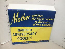 Nabisco 1948 Grocery Store Display Shelf Sign 50th Anniversary Cookies Mother X