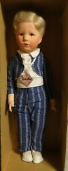 Kathe Kruse 20 Boy Doll Mint In Original Box 1930and039s Or 40and039s Friedebald A2
