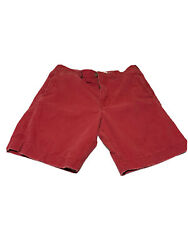 """American Eagle Mens Chino Board Shorts Size 36 Red Inseam 10"""" Distressed"""